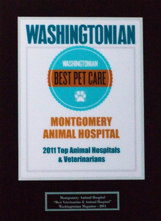Montgomery Animal Hospital - award